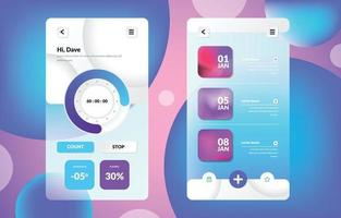 Minimalist User Interface with Glass Morphism Style vector