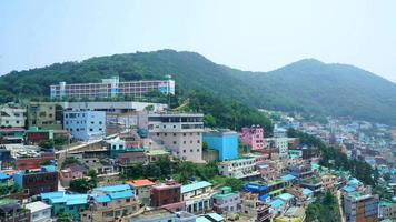 Time lapse beautiful and colorful Gamcheon culture village in Busan video