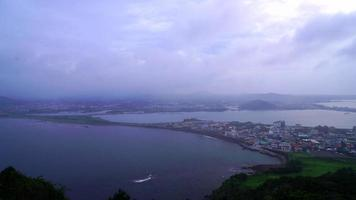 Jeju City skyline view from Seongsan Ilchubong video