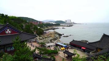Haedong Yonggungsa Temple with sea in Busan, South Korea video