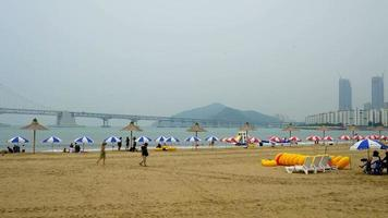 Time lapse Gwangan beach in Busan City, South Korea video