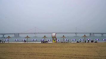 Gwangan beach in Busan City, South Korea video