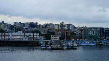 Time lapse Jeju City Skyline in Jeju Island, South Korea video