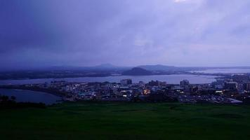 Timelapse Jeju cityscape skyline in South Korea video