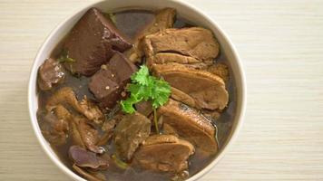 Pot stew duck or steamed duck with soy sauce video