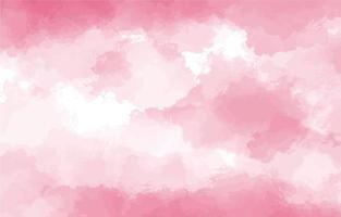 Pink waterclor texture background vector