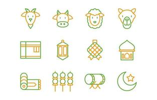 Eid Adha Icon Set vector