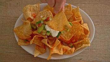croustilles de tortilla aux nachos mexicains video