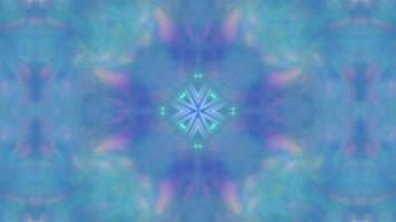 Abstract blue winter kaleidoscope background with luminous pattern video
