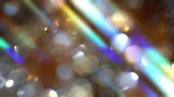 Abstract background with rainbow highlights and bokeh video