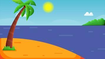 den fantastiska stranden på ön i havet. video