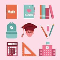 Back to School Icon Template Set vector