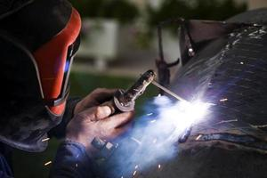 Arc Welding in Construction Area photo