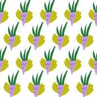 Childrens paper cut seamless pattern background. Vegetable design vector