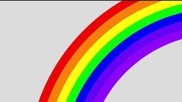 Rainbow transition effect. video