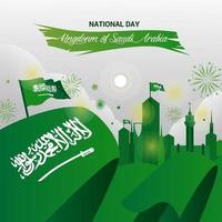 National Day of Saudi Arabia vector