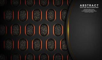 Fondo de lujo negro 3d abstracto con efecto de puntos de brillo vector