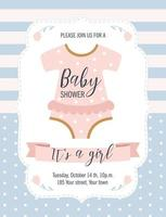Baby Shower card. It's a girl. Vector illustration