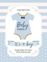 Baby Shower card. It's a boy. Vector illustration