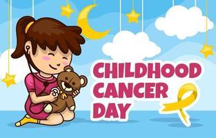 conciencia sobre el cáncer infantil vector