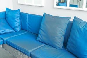 Beautiful luxury pillow on sofa decoration in livingroom interior photo