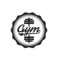 Gym vector logo, badge