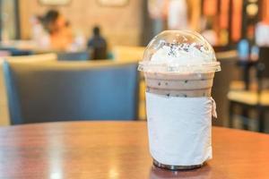 café helado con crema batida foto