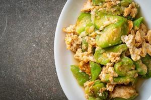 Stir Fried Angled Gourd with Egg photo