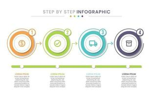 Step by step Infographic Illustration vector