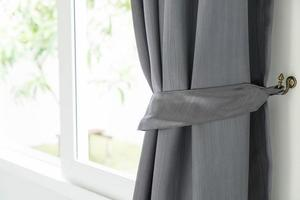 Curtain with sunlight photo