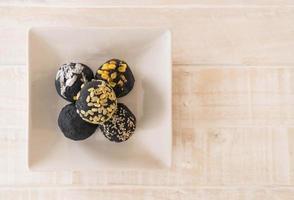 bola de patata de carbón foto