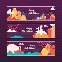 Mid Autumn Festival Banner Illustration vector