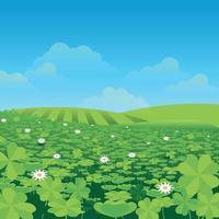 clover scene background vector