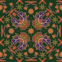 Batik Background Seamless Pattern vector