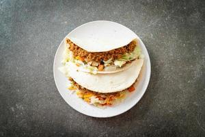 Mexican tacos with minced chicken photo