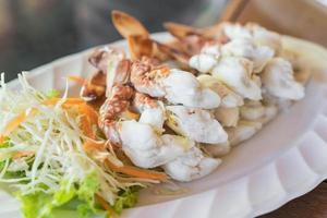 Sculling crab or steam crab leg sea food photo