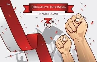 Indonesia Independence Day Illustration vector