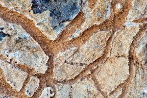 patrón natural superficie de rocas saladas foto