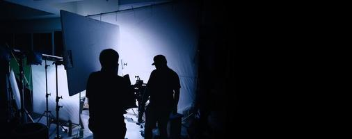 producción de video detrás de escena foto