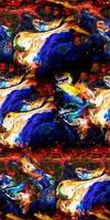 belleza de la tinta enlosable abstracta sin costuras foto