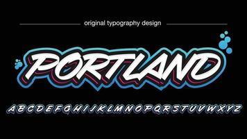 tipografía de pincel de graffiti 3d negrita blanca vector