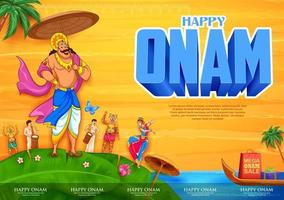 Onam traditional festival background of South India vector