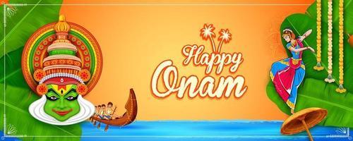 fondo de onam festival tradicional del sur de la india vector