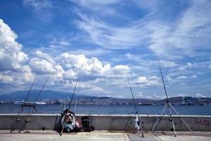 Fishing Rod Details near the Sea photo