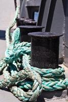conexión abstracta de líneas de cuerda foto