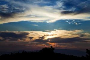 Dark and Shiny Soft Clouds on Sky photo