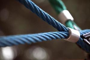 Rope in the Playground Macro view Children Amusement Park photo