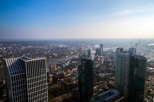 Vista del paisaje urbano en Frankfurt, Alemania foto