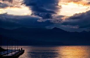 Seascape View in Nature in Turkey Izmir photo