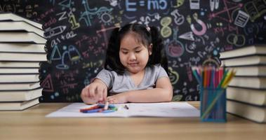 Girl Enjoying Drawing on Paper video